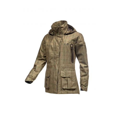 Baleno Pembrook Khaki Tweed Check Waterproof Jacket