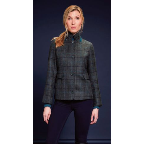 Jack Murphy Donna L/S Fitted Jacket With Peplum - Teal Earth