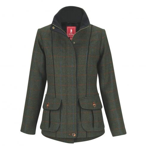 Jack Murphy Prue Tweed Jacket - Check Green