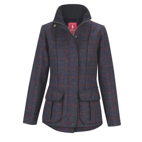 Jack Murphy Prue Tweed Jacket - Check Navy