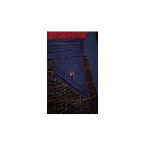Jack Murphy Norah Tweed High Waist Skirts - Primary Green