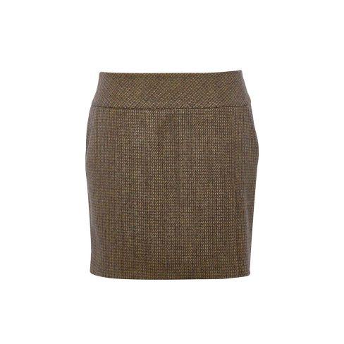 Dubarry Bellflower Tweed Skirt 43cm Length Heath