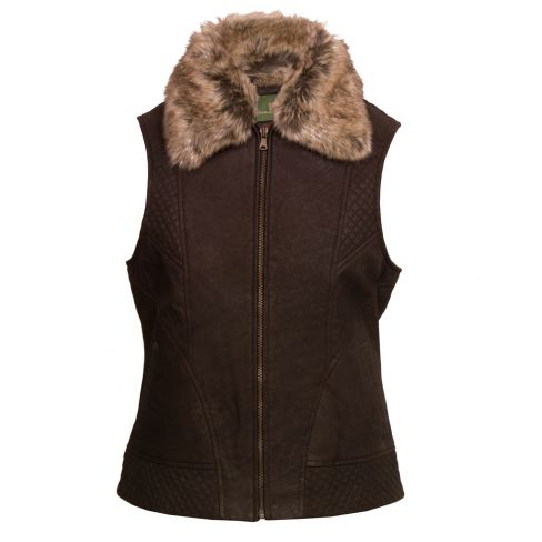 The Kempton Leather and Fur Gilet