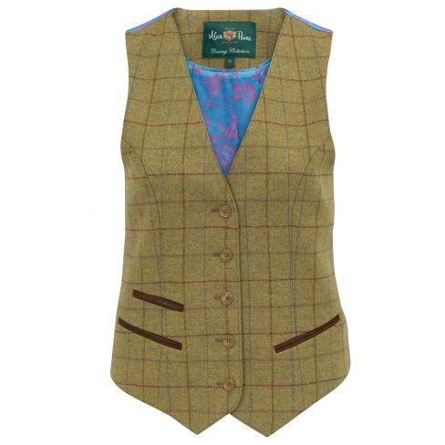 Alan Paine Combrook Ladies Lined Waistcoat - Aspen