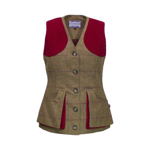 Olivia Tullett Josie Gilet Brown/Red