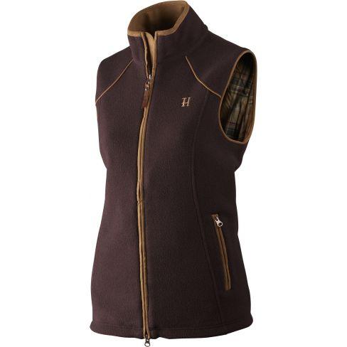 Harkila Sandham fleece Ladies Waistcoat Dark Port