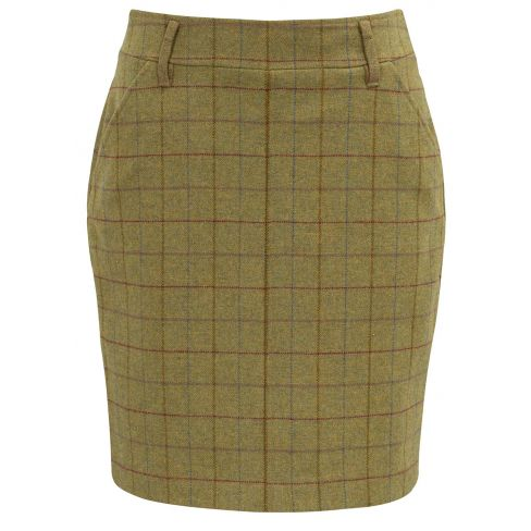 Alan Paine Ladies Combrook Tweed Skirt - Aspen