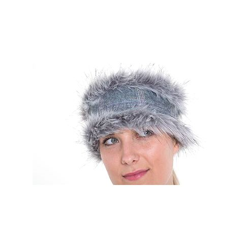 Holly Reversible Headband - Silver Blue