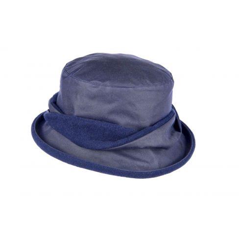 Ladies Twist Waxed Cotton Hat - Navy