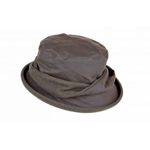 Ladies Twist Waxed Cotton Hat - Olive