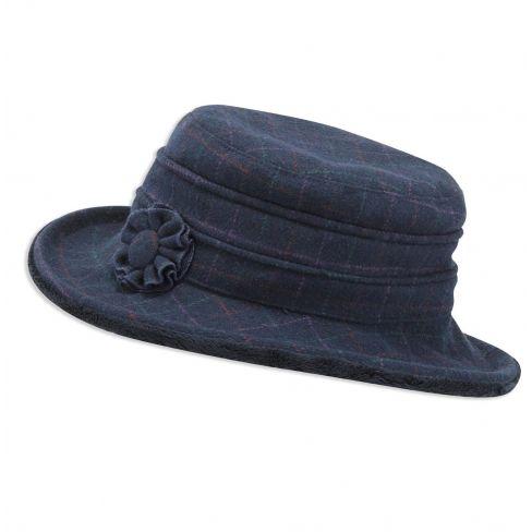 Jack Murphy Celbridge Tweed Hat - Navy