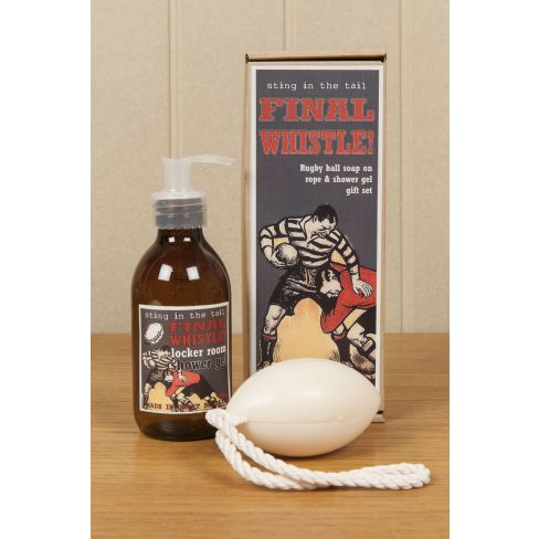 Rugby Ball Soap and Gel Gift Set