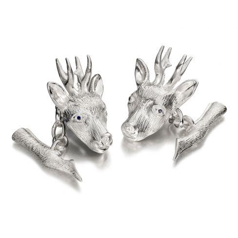 Roe Buck Cufflinks - Silver