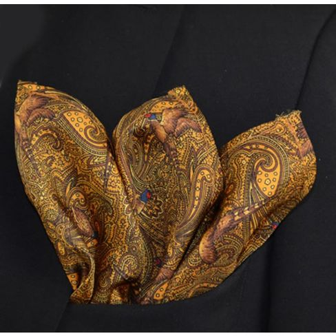 Italian Silk Collection -  Handkerchief - Gold