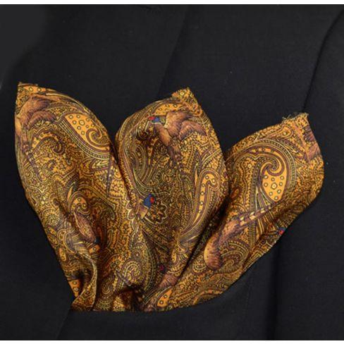 Italian Silk Collection -  Handkerchief - Gold