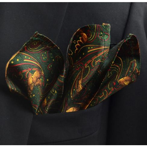 Italian Silk Collection - Handkerchief - Green