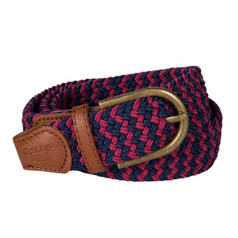Baleno Stretch Corded Belt Burgundy/Navy