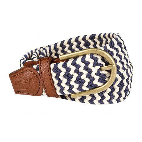 Baleno Stretch Corded Belt Sand/Navy