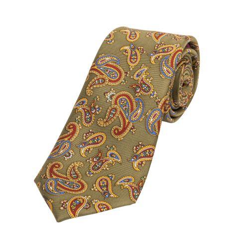 Paisley Silk Tie Green