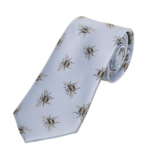 Woven Silk Tie Bumble Bee Blue
