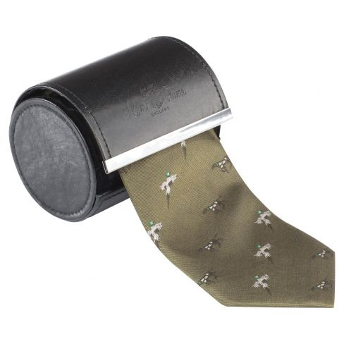 Smart Ripon Silk Ties - Bird & Dog Olive