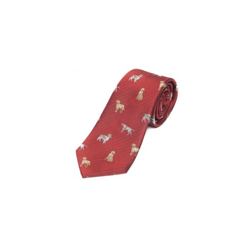 Woven Silk Tie - Working Dogs