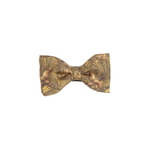Italian Silk Collection - Bow Tie - Gold