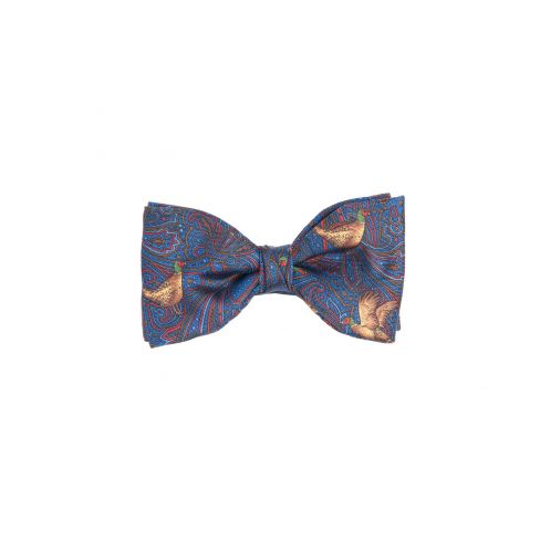 Italian Silk Collection - Bow Tie - Navy