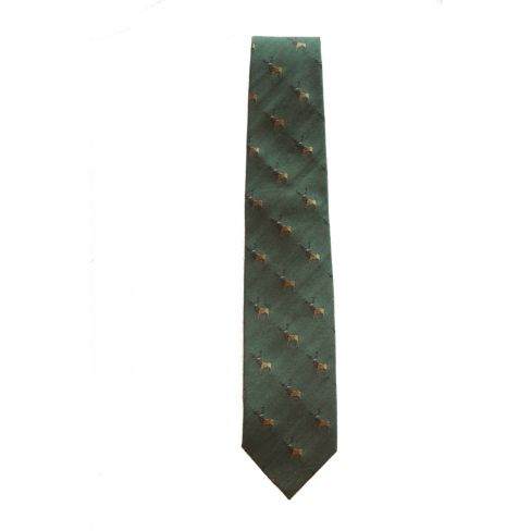 Hand-Made Woven Silk and Wool Tie Stag