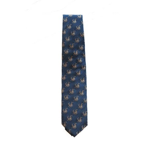 Hand-Made Woven Silk and Wool Tie Rampant Hare