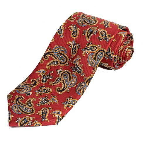 Paisley Silk Tie Red
