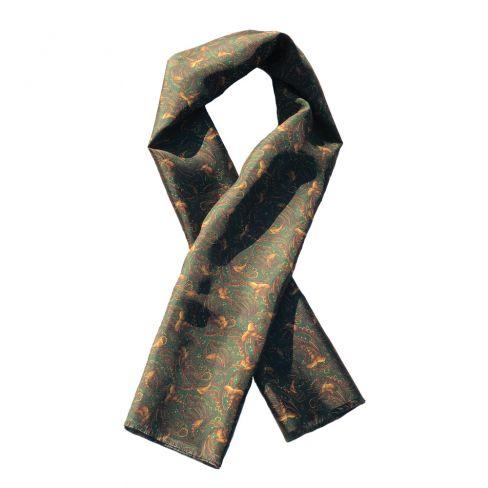Italian Silk Colletion - Scarf - Green