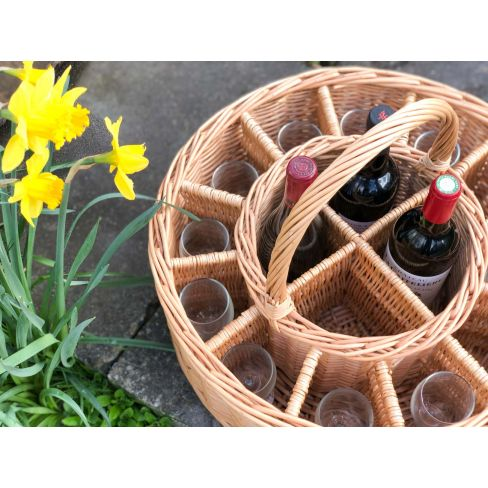 Celebration Wine Basket with 12 Free Glasses