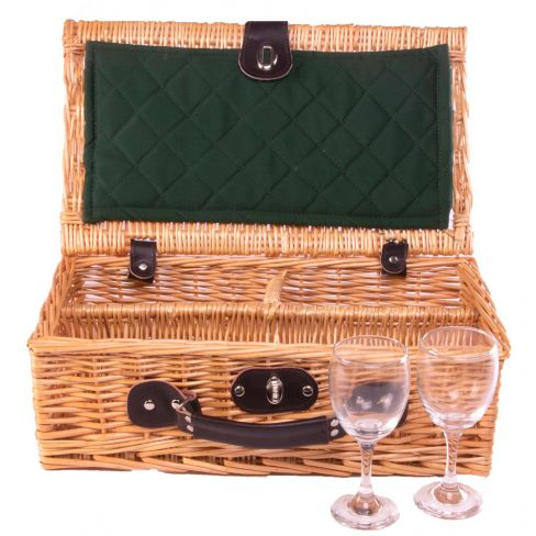 2 Glass Presentation Drinks Basket