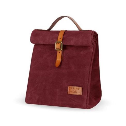 Waxed Canvas Insulated Picnic Bag - Wine