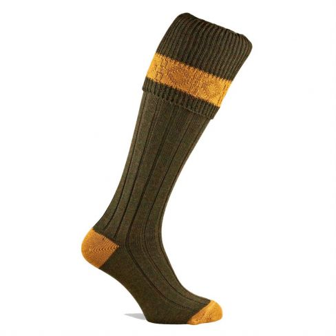 Kids Contrast Shooting Sock Greenacre