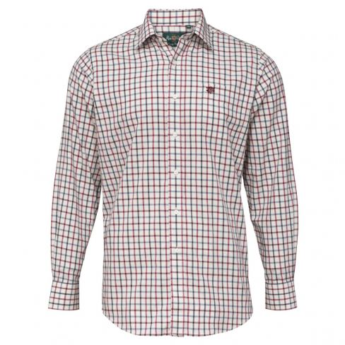 Alan Paine Ilkley Kids Check Shirt Red/Blue