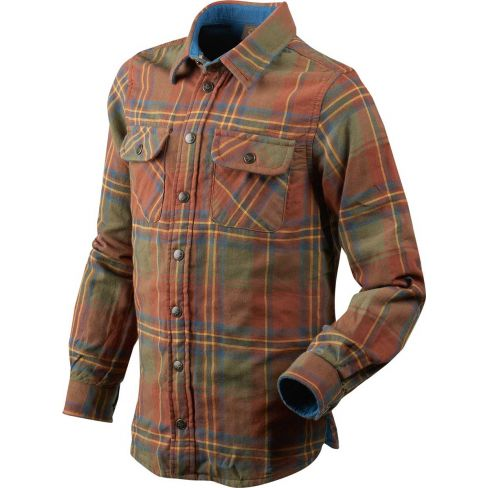 Seeland Kids Nolan Shirt - Rust Check