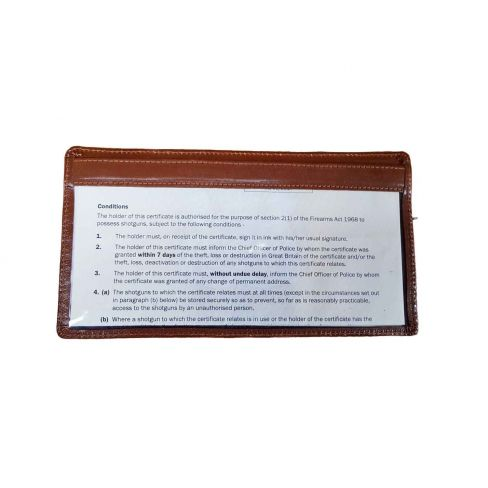 Leather Gun Licence Holder