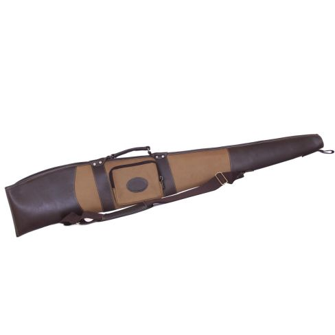 Canvas and Buffalo Leather Shotgun Slip  With Side Pocket