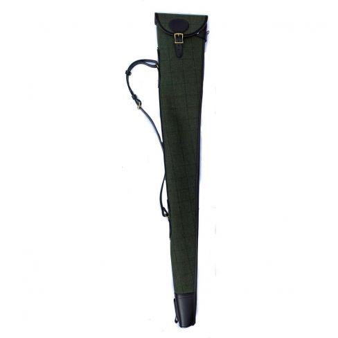 OT Tweed and Leather Gun Slip Dark Green