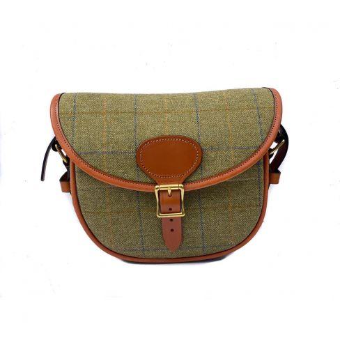 OT Tweed and Leather Cartridge Bag Green