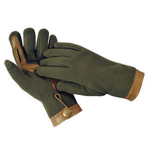 Gareth Windproof Fleece and lambskin Trim shooting Gloves