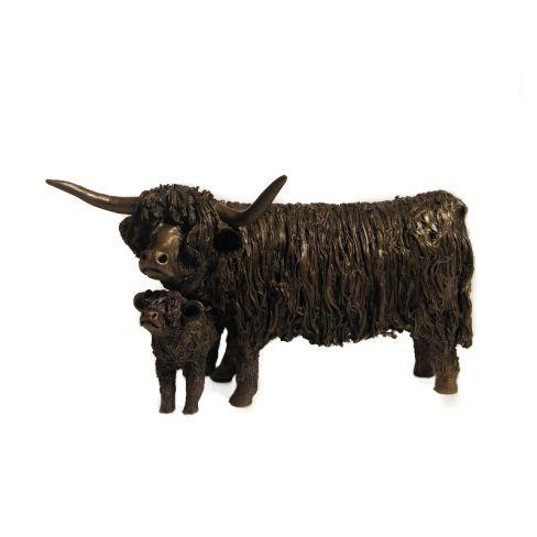 Highland Cow & Calf Standing - Veronica Ballan