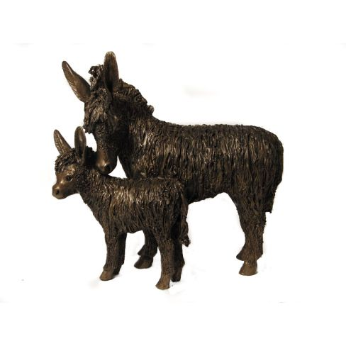 Donkey and Foal Standing  - Veronica Ballan