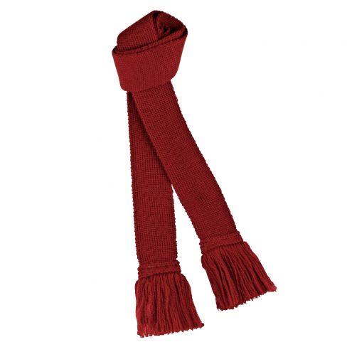 Wool Garters - Deep Red