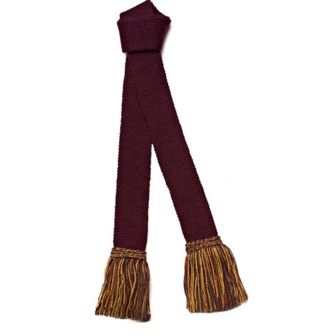 Contrast Wool Garters Burgundy/Gold