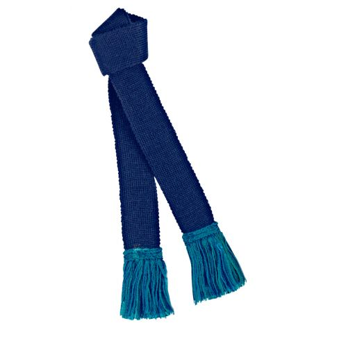 Contrast Wool Garters Navy/Turquoise