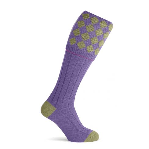 Unisex Charlton Shooting Sock - Sage/Purple