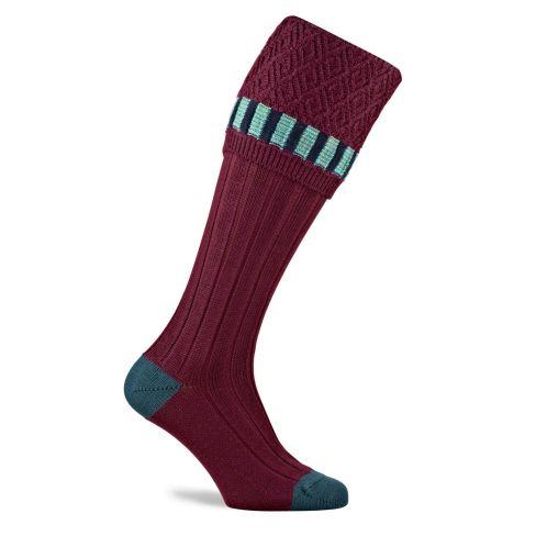 Elvedon Shooting Socks - Burgundy